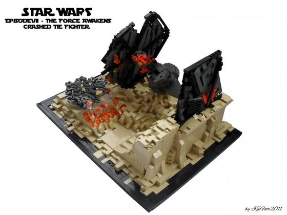 Star Wars Episode VII- The Force Awakens- Crashed TIE Fighter