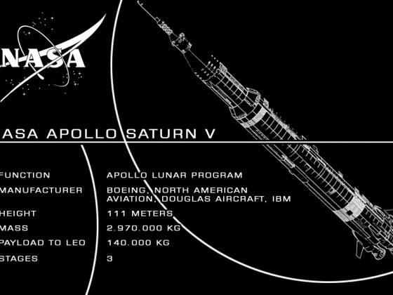 NASA Apollo Saturn V Custom UCS Sticker