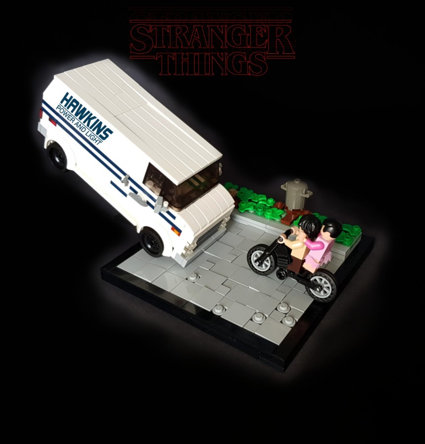 Stranger Things Season 1 - Hawkins Power and Light van flip