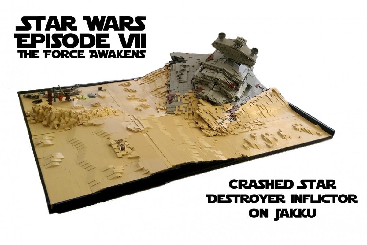 Star Wars Episode VII- The Force Awakens - Crashed Star Destroyer on Jakku