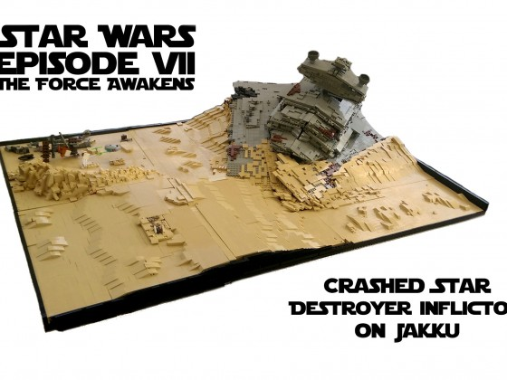 Star Wars Episode VII- The Force Awakens - Crashed Star Destroyer on Jakku
